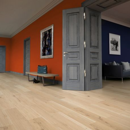 Wooden floor Birth Baltic Wood   (moody blue, french interior, gray)