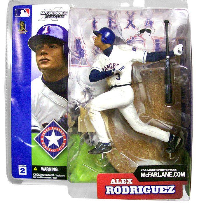 McFarlane Toys MLB Texas Rangers Sports Picks Series 2 Alex Rodriguez Action Figure [White Jersey]