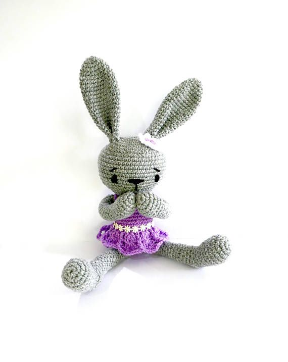 READY TO SHIP Crochet Bunny Rabbit Baby Girl Toy Easter