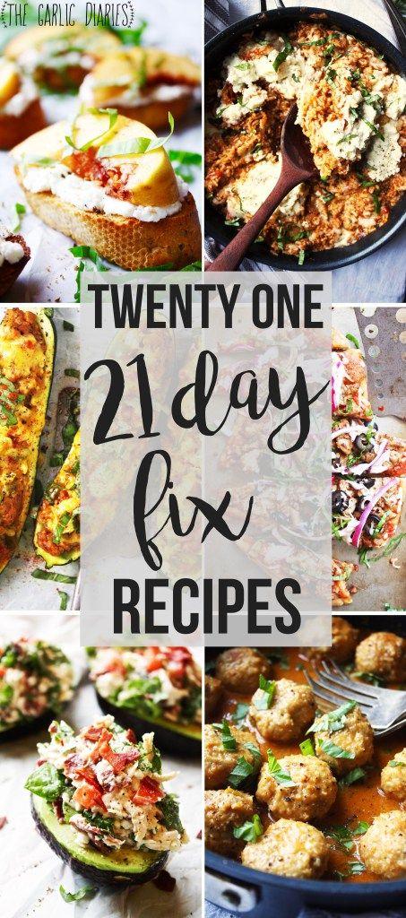 Twenty One 21 Day Fix Recipes
