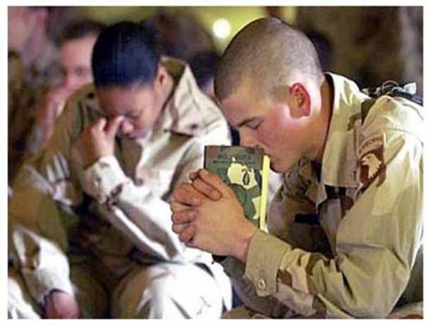 A Soldiers Life-......to be silent when people pray to God for a new car..