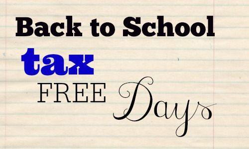 Back to School: 2014 Tax FREE Shopping Days - Southern Savers