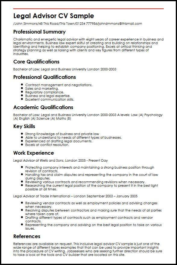 Cv Template Law | Cv template, Resume skills, Resume templates