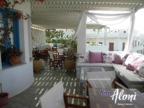 Breakfast and Dining area of Aloni Paros hotel