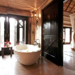 Thanda Private Game Reserve in Zululand, South Africa features romantic decadence with bush villas and tented camps.