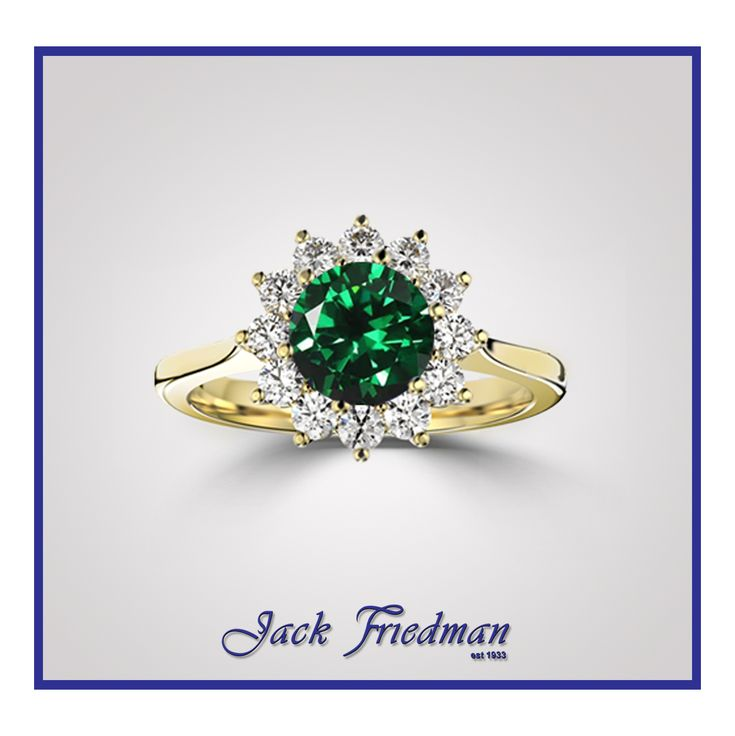 Galaxy Emerald Dress Ring. Exclusive to our Galaxy Collection.  Has an option of Diamond or Tanzanite center stone surrounded by a cluster of 12 brilliant Diamonds.  Email - websales@jackfriedman.co.za  View our collection in store. . .  #dressring #engagementring #emerald  #diamonds #diamondcluster #decemberbirthstone #gemstone #gems #diamond #jackfriedman #engagement