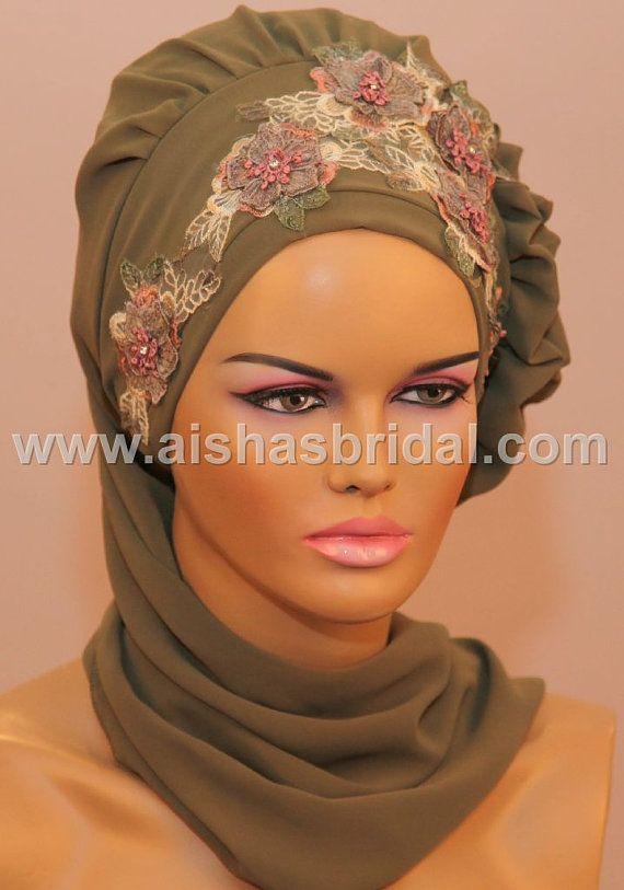 Ready To Wear Hijab  Code HT0084 by HAZIRTURBAN on Etsy, $45.00
