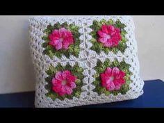 Capa para Almofada em Croche Catavento com Barbante - 1º Parte - YouTube