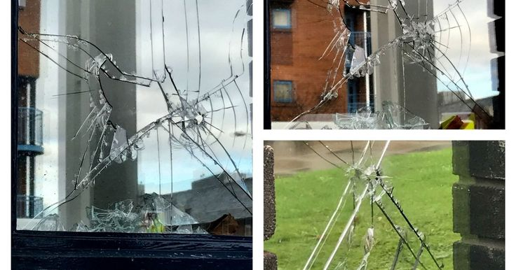 The incident left the outer glazing of a ground floor window of Mr Khan's office - which is in the same building as Manchester Central MP Lucy Powell - smashed and cracked.