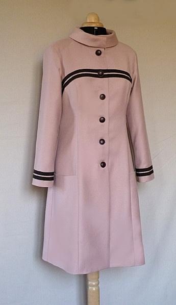 manteau veste laine vieux rose