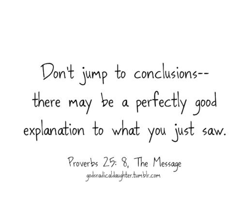 Jumping To Conclusions Quotes New 41 Best Jumping To Conclusions Images On Pinterest  Favorite Quotes . Design Inspiration