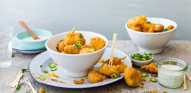 Deep-fried pork fritters
