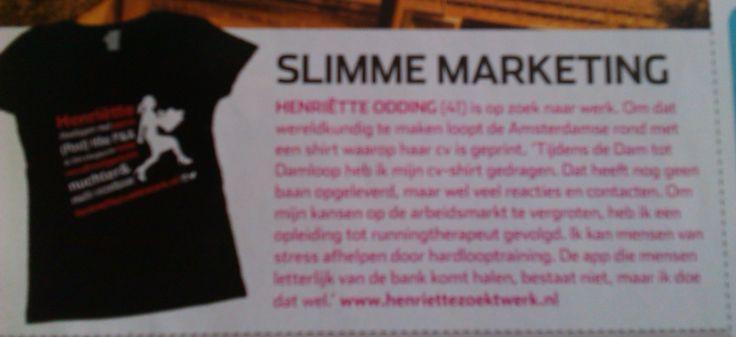 Ben je een hardloper en maak je nogal wat kilometers of doe je mee met een wedstrijd; zet je (beknopte) cv op je hardloopshirt! www.elsdrost.nl