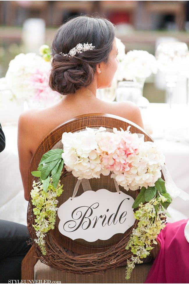Coiffure de mariage / wedding hair style ET.......... JOLIE CHAISE DECOREE .......