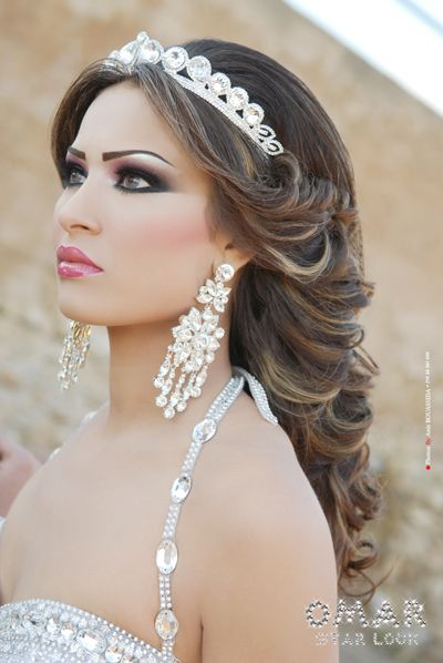 arab bride <3 love everything in this pic ..her makeup, her hair,  tiara, etc... <3<3<3