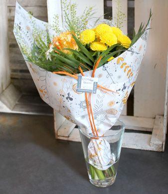 L'atelier du Fleuriste Mille-feuilles #DIY #emballage #fleurs #wrapping