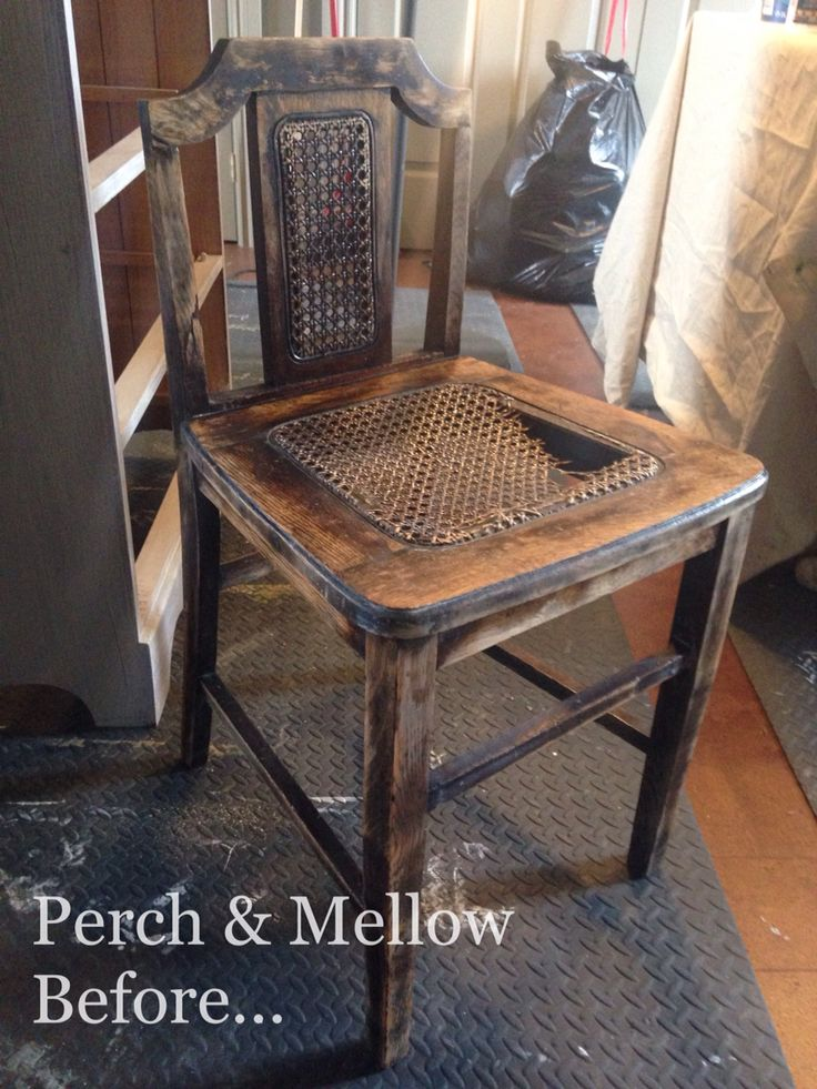 Old milliner's chair waiting for TLC a