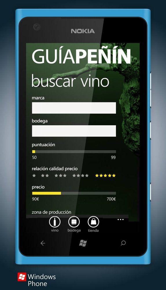 app wine ui