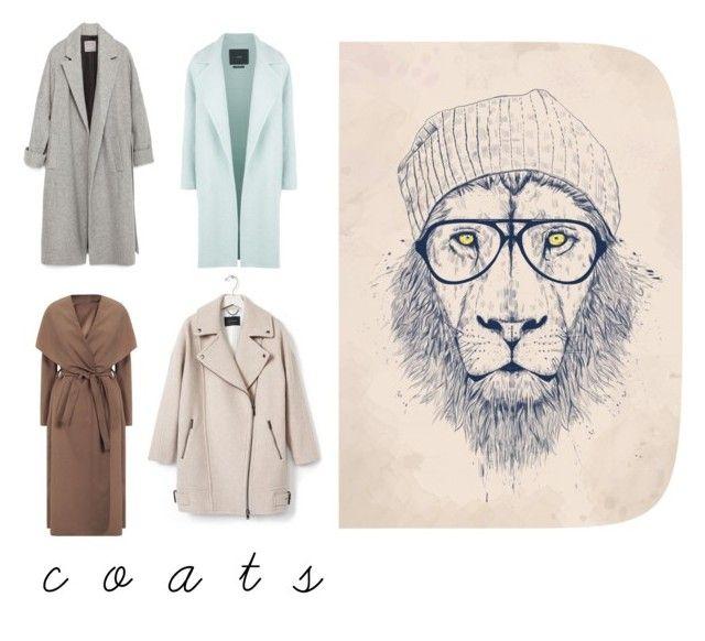 """c o a t s | ❄️☂☁️ |"" by earringsandstuff on Polyvore featuring MaxMara, Zara, Banana Republic, Monde Mosaic, coats and fallstyle"