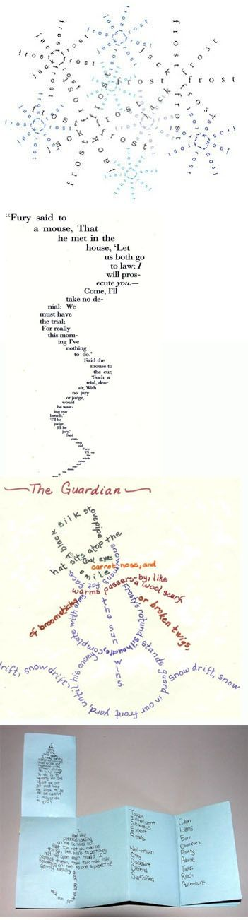 Bookmaking With Kids/Concrete Poetry for Winter