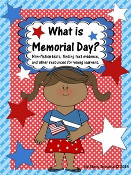 Memorial Day is a time to remember those who have served our country.  With these pages your students will read non-fiction text and learn about the history of Memorial Day, how people celebrate and learn the difference between Memorial Day and Veterans Day. | by Stacy Tessena
