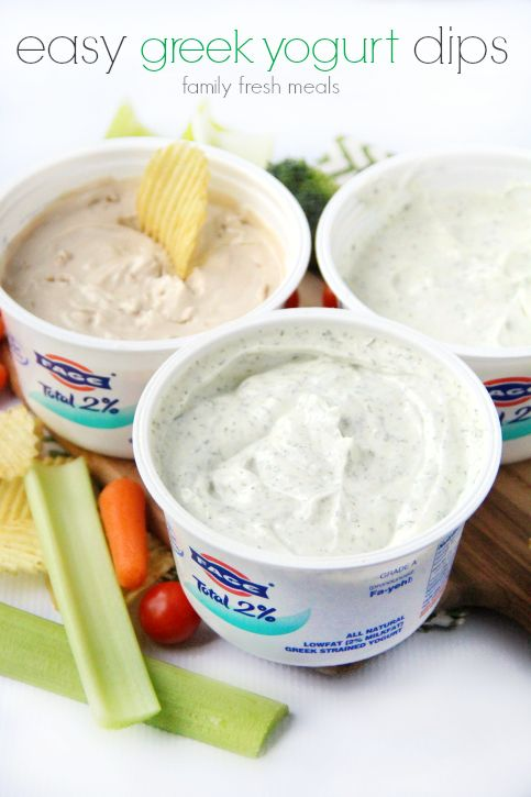 Ok people, it doesn't get much easier than this. These 3 Easy Greek Yogurt Dips Plus..it's HEALTHY. Much better than using the loads of sour cream and mayo