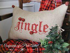 Pottery Barn Ispirato Jingle Pillow