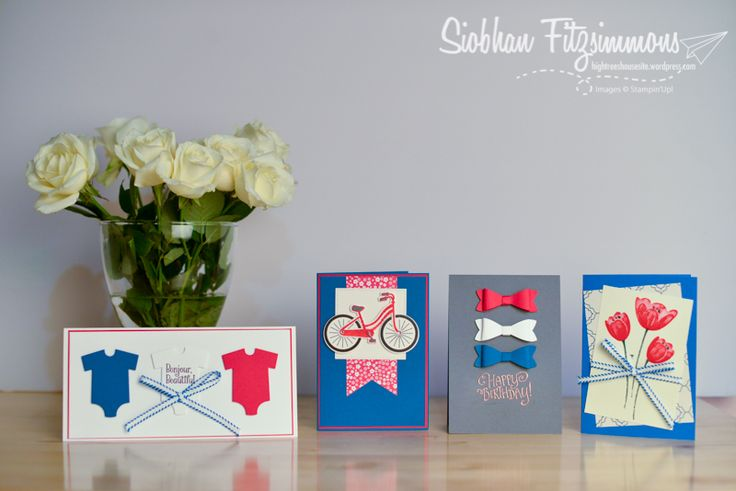Stampin Up Annual Catalogue 2017-18 - Paper Adventures Team Blog Hop - Red, White, Blue - High Trees House Living