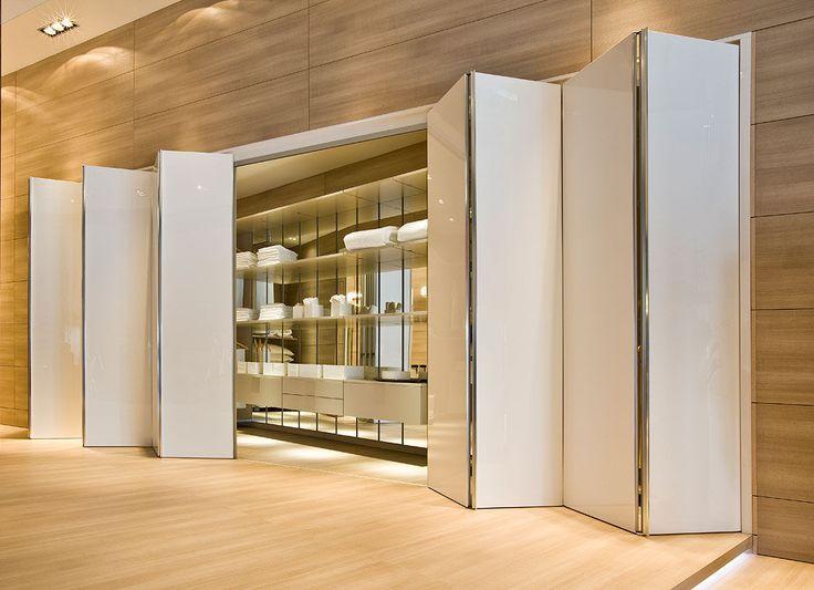 Folding door for closet and walk-in wardrobe - FLECTO - movi
