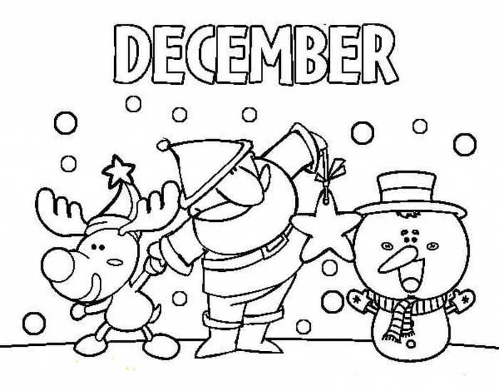 December Coloring Pages Printable Free Coloring Sheets Coloring Pages For Kids Coloring Pages Winter Coloring Pages