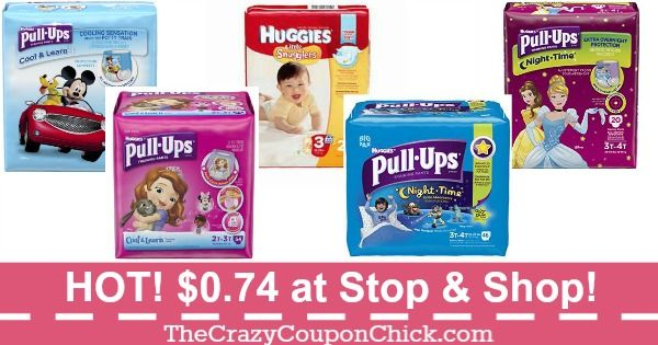 *SUPER HOT* Huggies Diapers, Pull Ups & Training Pants ONLY $0.74 at Stop & Shop (9/1)