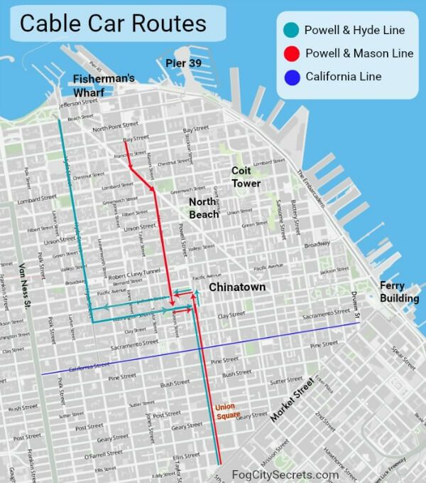 street cars san francisco map How To Ride A Cable Car In San Francisco Insider Tips From A