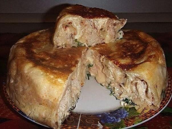 Пирог из лаваша с курицей и сыром | Готовим мясо Быстро! | Яндекс Дзен