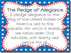 Pledge of Allegiance Printable from Mrs. Hoffer's Spot
