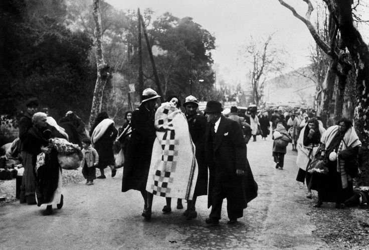 FRANCE. Pyrenees. Perthus Pass. Spanish Republican refugees cross the border assisted by French Mobile Guards. February 1939.