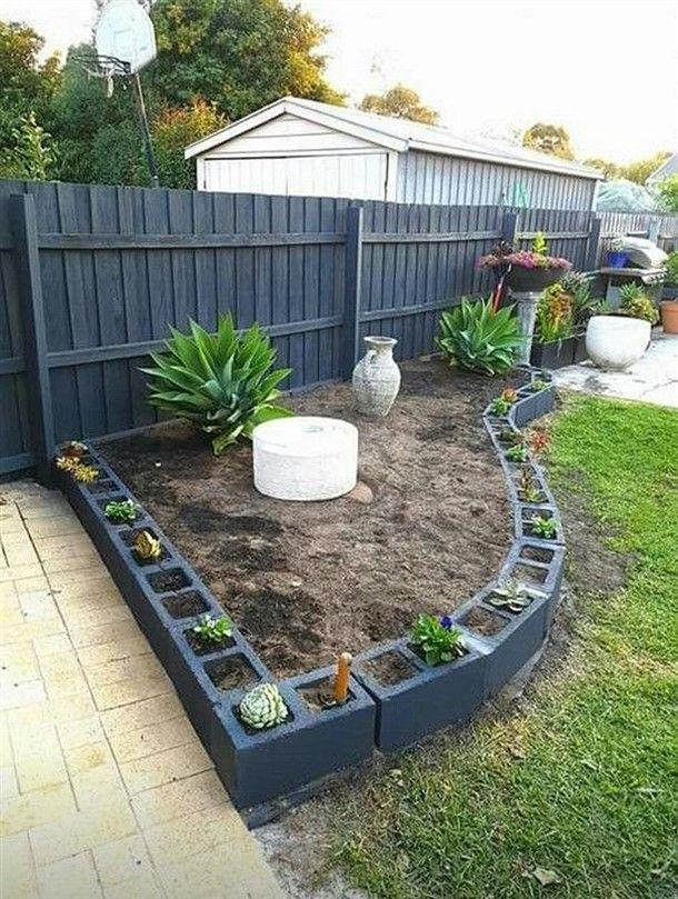 Gebaude Gartenmobel Mit Asche Block Haus Garten Inspiring Interior Outdoor Und Diy Ide Backyard Landscaping Designs Front Garden Landscape Diy Landscaping
