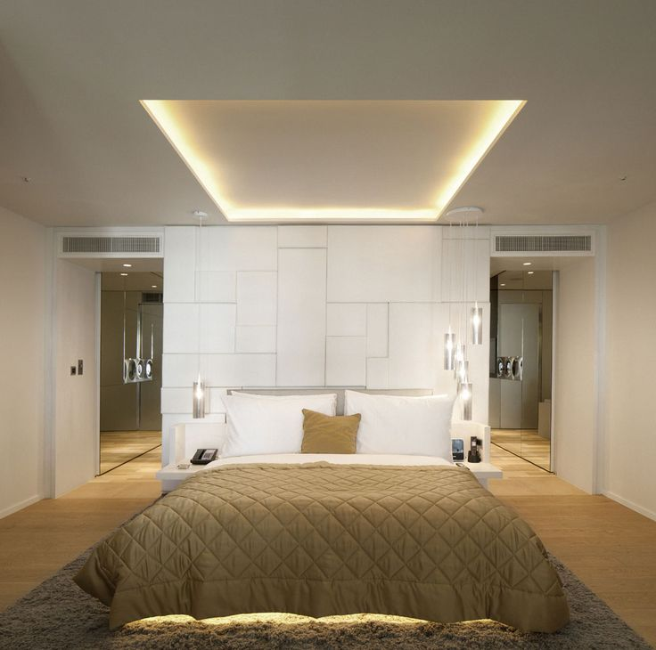 Bedroom of W Hotel in Leicester Square, London by Concrete - hotelzimmer design mit indirekter beleuchtung bilder