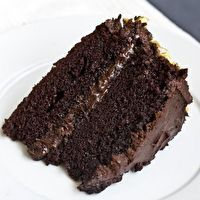 The BEST homemade chocolate cake. My mom's favorite recipe.