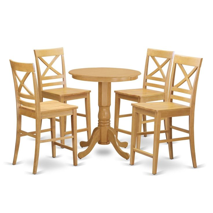 Solid Wood 5-piece Counter-height Pub Set