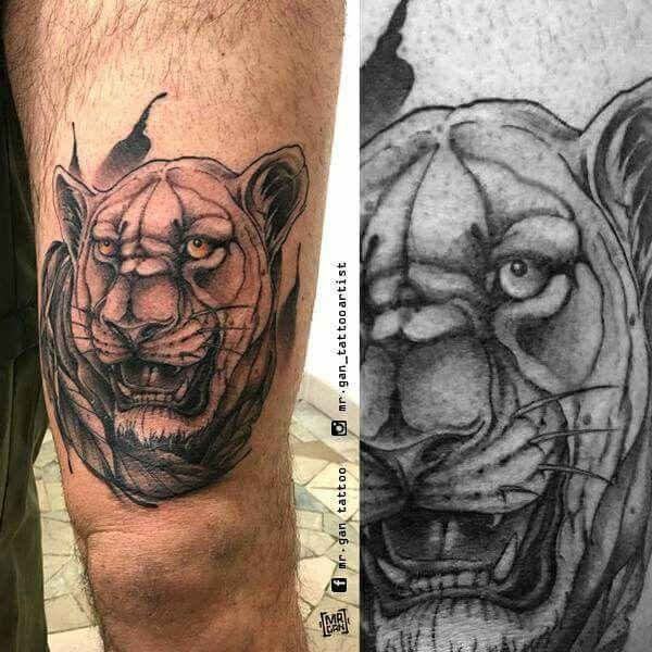 #lioness #lionesstattoo #tattoo #tattooedboys #tattooedgirls #ntgallery #inkedmag #ink #inkedboy #inked #tattooed #originaldesign #mrgan #tattooartist