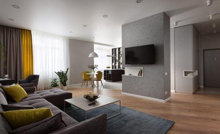96m2-es kétszobás modern lakás érdekes színpalettával, tágas térszervezéssel - hosszú távú bérbeadásra tervezve igényes berendezéssel