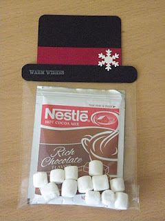 Snowman Hat Hot Chocolate gift idea (maybe for kids' teachers at church?)