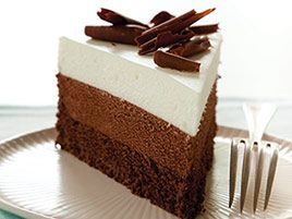 Triple Chocolate Mousse Cake by Cooks Illustrated. #food
