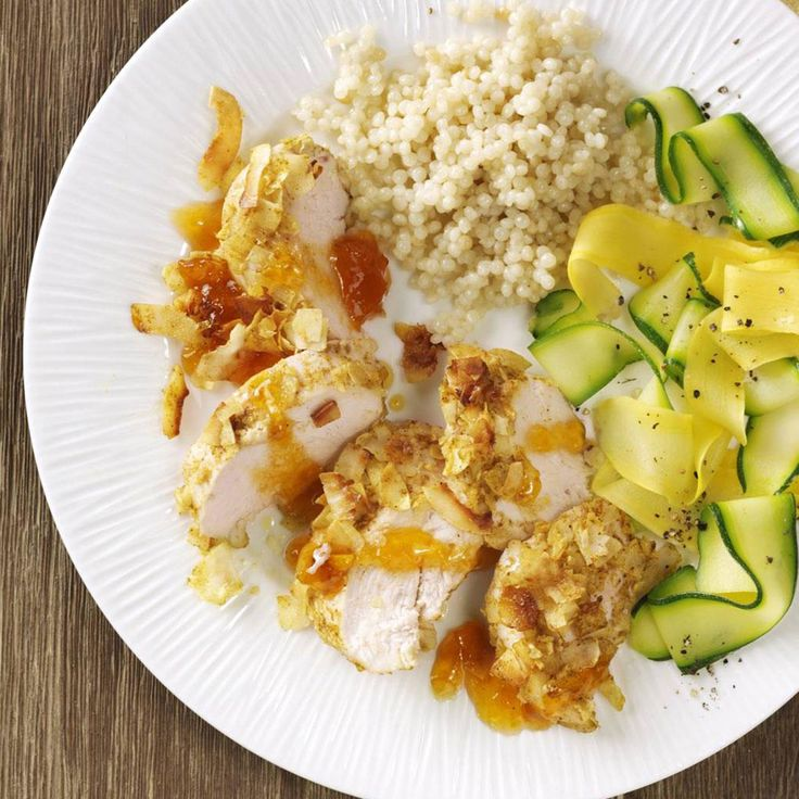 Curried Coconut Chicken for Two Recipe -Looking for a new way to fix chicken breasts? This five-ingredient recipe is a nice change of pace. It's sweet, savory and a little exotic. Serve it over rice or couscous. —Becky Walch, Manteca, California