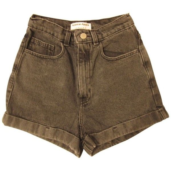 Grey Denim Jeans Shorts AMERICAN APPAREL (577.810 IDR) ❤ liked on Polyvore featuring shorts, bottoms, pants, short, american apparel shorts, short shorts, american apparel, gray shorts and grey shorts