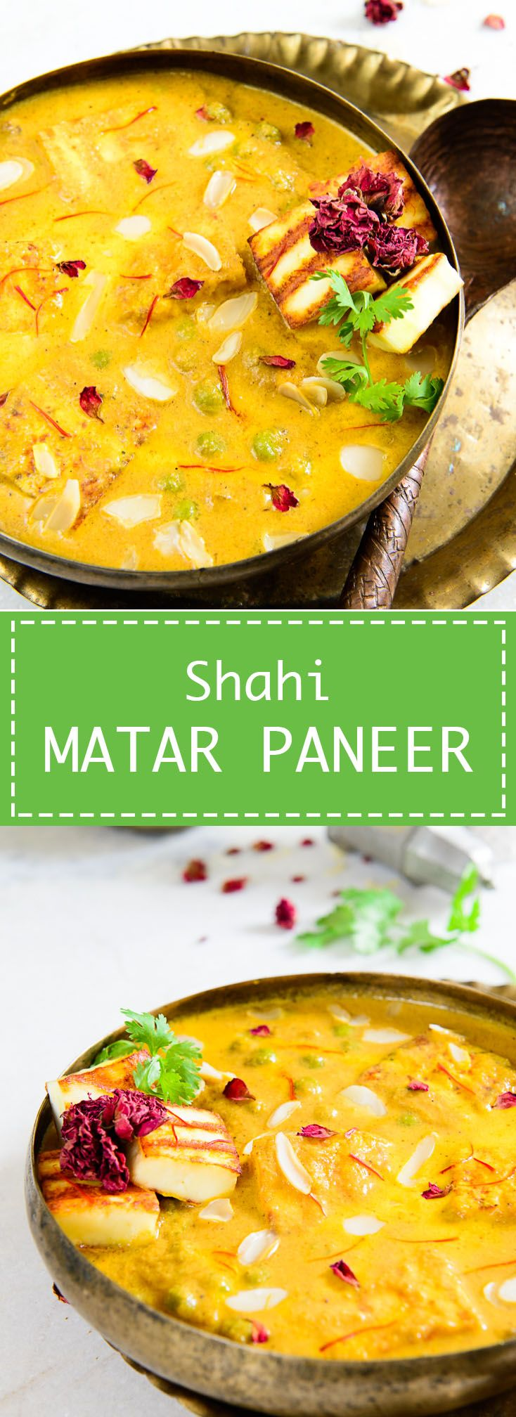 Shahi Matar Paneer A rich and creamy vegetarian Indian curry which can be enjoyed with any Indian bread
