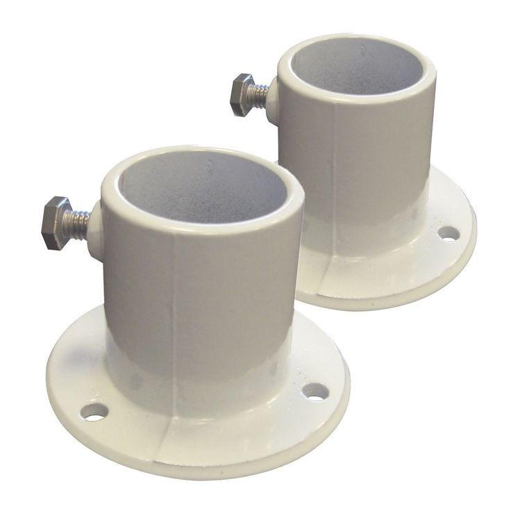 Blue Wave Ne1228Pr Aluminum Deck Flanges For Above Ground Pool Ladder, Pair