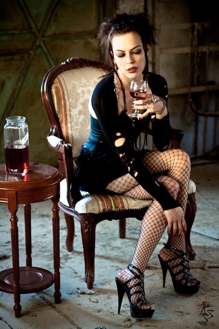 sexy goth girl heels nude