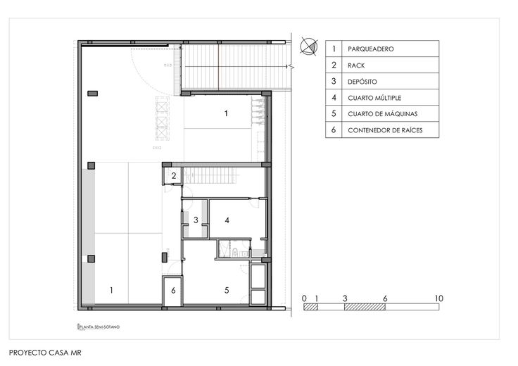 MR House,Basement Plan