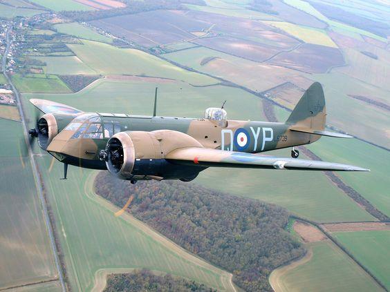 """"""" Bristol Blenheim in flight (Date and location unknown) """""""